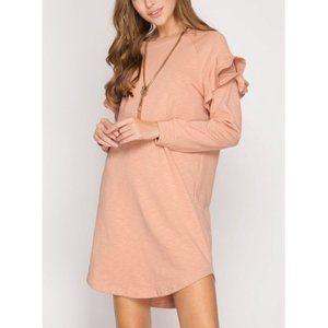 NWT Peach French Terry Sweatshirt Dress
